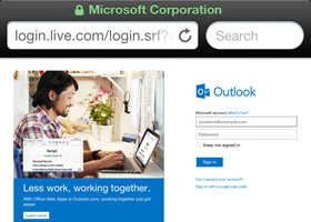 login-to-outlook-via-safari